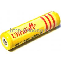 Аккумулятор 18650 3600 mAh Ultrafire 3.7V с защитой