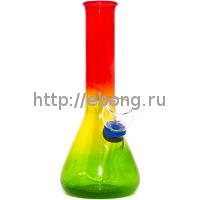 Бонг KG 4262 RB-2 Rainbow Цветное прозрачное стекло 15.5 см