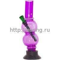 Бонг KG 4251-1 Два шарика Акрил 21 см