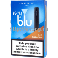 Вейпор My Blu Tobacco 16 мг/мл Чёрный Von Erl