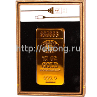 Зажигалка Электронная miniUSB Jin Lun Слиток Золота JL 688