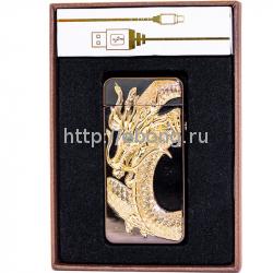 Зажигалка Электронная miniUSB Jin Lun Zodiac JL 603 Черная