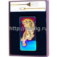 Зажигалка Электронная miniUSB Jin Lun Zodiac JL 603 Оксидная