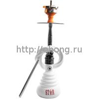 Кальян Amy Deluxe 4-Star 410 (b-wt) Колба Белая Шахта Черный хром h=55 см
