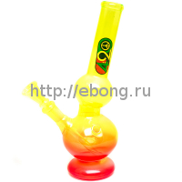 Бонг стекло Greenline Rasta h=230мм d=28мм LG19