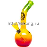 Бонг стекло Mini Rasta h=180мм d=24мм 01107N