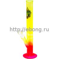 Бонг стекло Greenline SmoKing Rasta Lion h=350мм d=40мм LG31