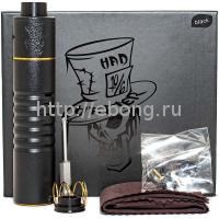 Набор МехМод Mad Hatter 24 18650 + дрипка Черный (ADVKEN)