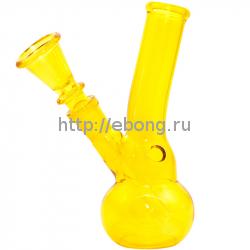 Бонг стекло Желтый h=140 мм 201804