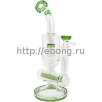 Бонг стекло Nautilus Bubbler Green Grace Glass
