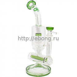 Бонг стекло Nautilus Bubbler Green Grace Glass