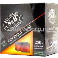 Уголь для кальяна SnB 18 кубиков 25*25*25  0.250 кг (Кокосовый)