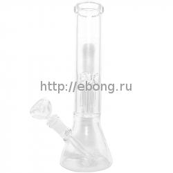 Бонг стекло Bo 109 Прозрачный h= 35 см