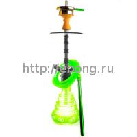 Кальян Amy Deluxe 4-Star 460 (psmbk-gr) Колба Зеленая Шахта Черная h=51 см