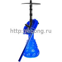 Кальян Amy Deluxe 4-Star 460 (psmbk-bu) Колба Синяя Шахта Черная h=51 см