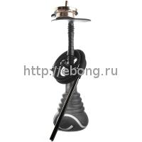 Кальян Amy Deluxe 4-Star 450 (psmbk-bk) Колба Черная Шахта Черная h=53 см