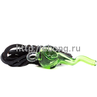 Трубка стекло с подвесом Green L=6 см 601800-37