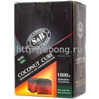 Уголь для кальяна SnB 72 кубика 25*25*25  1 кг (Кокосовый)