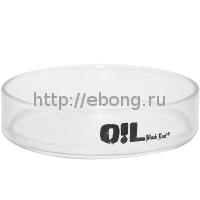 Поднос стекло d=8 см Oil Black Leaf 500610