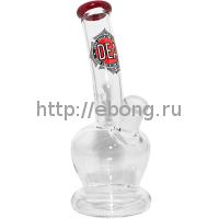 Бонг стекло DEA Firm h=190мм Black Leaf G95-5