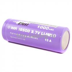 Аккумулятор 18500 1000 mAh Efest Purple IMR 3.7V 15А