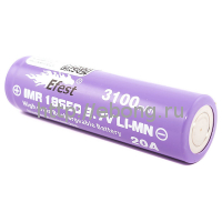 Аккумулятор 18650 3100 mAh Efest Purple IMR 3.7V 20А