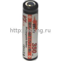 Аккумулятор 10440 350 mAh Efest IMR 3.7V незащищенный для eCab