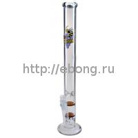 Бонг стекло Пчелка L Black Leaf Honeycomb GPER 047-L45