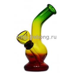 Бонг стекло Радуга маленький изогнутый KG4261RB