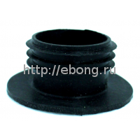 Уплотнитель для колбы маленькой кальяна (черный резиновый)
