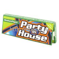 Бумага сигаретная Party in House Green Cut Corner 50 лист. (Скошенный угол)