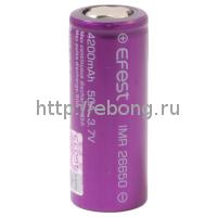 Аккумулятор Efest IMR 26650 4200 mAh 20А/50A незащищенный  (плоский) LI-MN ВысокоАмперный