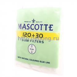 Фильтры для самокруток MASCOTTE Slim Filters 6 мм 120 шт