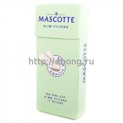 Фильтры для самокруток MASCOTTE Slim Filters Sticks 6 мм 102 шт