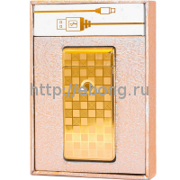 Зажигалка Электронная miniUSB Jin Lun JL 301 Золото