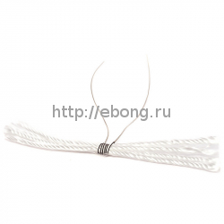 Спираль Нихром-Кремний Welded Wires w/ Wicks 1.8 Ом (4wick*50*2.6мм*33 AWG) Pre-Coiled