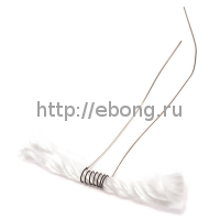 Спираль Нихром-Кремний Welded Wires w/ Wicks 1.8 Ом (1wick*50*2.6мм*33 AWG) Pre-Coiled