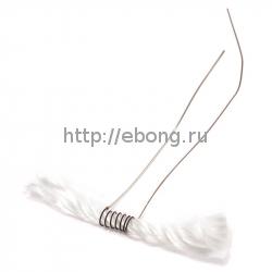 Спираль Нихром-Кремний Welded Wires w/ Wicks 1.8 Ом (1wick*50*2.6мм*33 AWG) Pre-Coiled