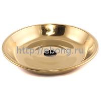 Тарелка золотая