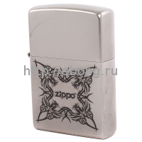 Зажигалка Zippo 205 Tattoo Design Satin Chrome Бензиновая